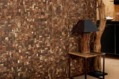 Coconut tiles for  a new  walldesign