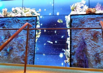 Wall Design Rock Coral Wall Cruise Liner Main Stairs 1